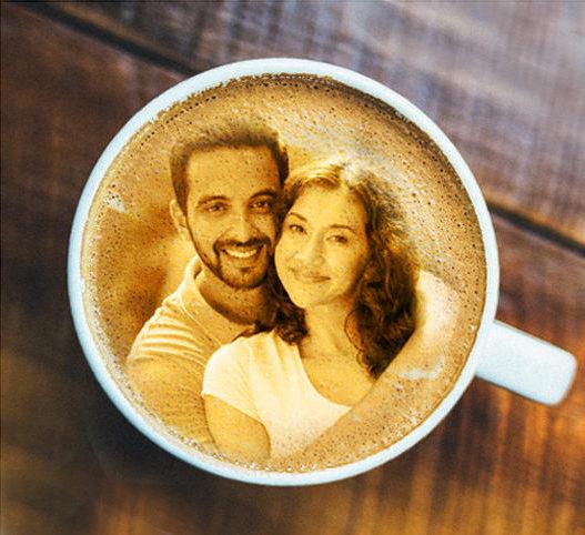 Esküvő kávé nyomtatás Prémiumkávé